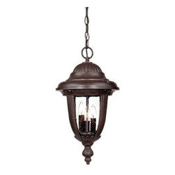 Acclaim Lighting - Outdoor Lanterns. Monterey Collection Hanging Lantern 3-Light Outdoor Burled Wal - Shop for Lighting & Fans at The Home Depot. The Monterey collection 3-light hanging lantern is made of durable cast aluminum. The globe is clear seeded glass. This lantern design will compliment many different architectural styles.