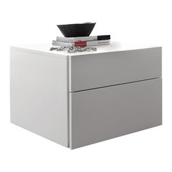 Rossetto - Start White Matrix Nightstand by Rossetto USA - Features: