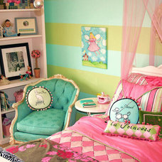 Colorful French Themed Girls Room