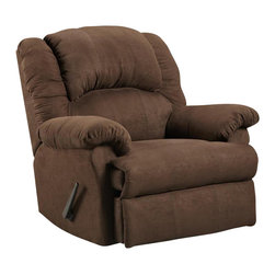 Chelsea Home Furniture - Chelsea Home Ambrose Chaise Rocker Recliner in Aruba Chocolate - Ambrose Chaise rocker recliner in Aruba Chocolate belongs to Verona IV collection by Chelsea Home Furniture