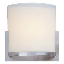 ET2 - ET2 E95080-92SN Elements Transitional Wall Sconce - The Elements collection offers the freedom of choice in lighting design. Start with the style selection - pendant, mini pendant, or wall sconce - then choose the right shape, square or circular, for the space. Wrap the selected Oil Rubbed Bronze or Satin Nickel lamp in one of five color options that will make just the right statement: Grass Cloth, White Weave, White Pleat, Crimson or Satin White.  Finally, choose the perfect light source for the task. Whether fluorescent, xenon, or incandescent, this collection brings together all the right elements.