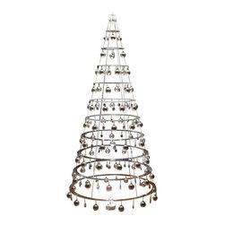 Dream Tree, LLC. - The Modern Christmas Tree, Crystal Clear, 7.5', Glass Bulbs, Silver - 7.5ft tall*/ 15lbs (with ornaments)