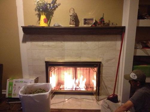 Stone Or Flat Fireplace Wall