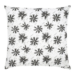 "Etoile Cotton Pillow - Modern and classic - the hallmark of the CocoCozy style.  This 100% cotton decorative pillow is sure to make a statement in any room. Each 20"" x 20"" pillow is custom made and manufactured in the United States with an invisible zipper and a knife edge finish.  Dry clean only."