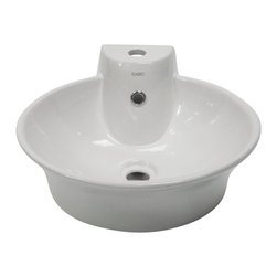 EAGO - EAGO BA121 Round Ceramic Above Mount Bath Sink with Single Faucet Hole - Now offering this top of the line brand of modern bathroom sinks. Join the latest fashion trend with EAGO's innovative line of green products and add a contemporary flair to your bathroom.