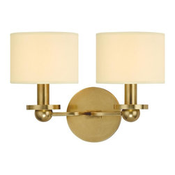 Hudson Valley - 1512-AGB Kirkwood Bath Vanity Light, Aged Brass - Modern Contempo Bath Vanity Light in Aged Brass from the Kirkwood Collection by Hudson Valley.