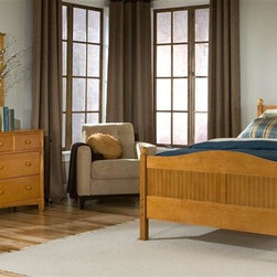 Bolton Furniture - Cottage Queen Bed w Essex Dresser Set in Honey Finish - Includes Cottage queen headboard, footboard and side rails and Essex drawer & mirror set. Bed:. Queen size bed. 64 in. L x 85 in. W x 47 in. H. Dresser:. 7 Drawers. 60 in. W x 19 in. D x 34 in. H. Mirror:. Landscape frame. 43 in. W x 40 in. H. Honey finish. Assembly required. 1-Year warranty