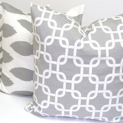 ElemenOPillows - Gray Pillow Cover Set