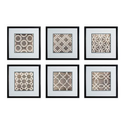 Sterling Industries - Symmetry Blueprint Wall Art, Set of 6 - This Wall Art from the Symmetry Blueprint collection by Sterling will enhance your home with a perfect mix of form and function. The features include a finish applied by experts. This item qualifies for free shipping! Check the right-hand bar or call our dedicated Sales Team for similar items and additional options not pictured.