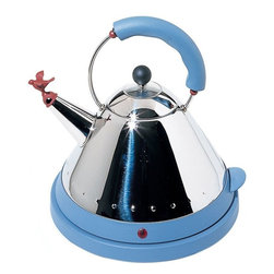 Alessi - Alessi Michael Graves Electric Kettle - Need a pick-me-up at work? Bring along this cordless electric kettle by Michael Graves — and your coffee or tea — for an afternoon supercharge.