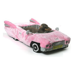 Posh Pink Cadillac Pet Bed - Doesn't every dog love going for a ride in the car? Now they can dream about it while actually living the dream!