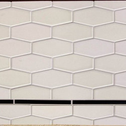 Elongate Hex tiles - Great new shapes and can be custom glazed to almost any color. Use for both floors and walls to create a soft texture or rich blanket of color!