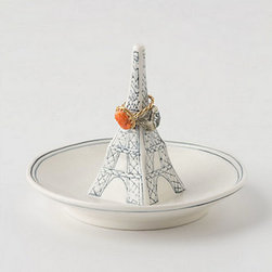 Eiffel Tower Ring Dish - As a reminder of Parisian life, this ring holder is both functional and pretty.