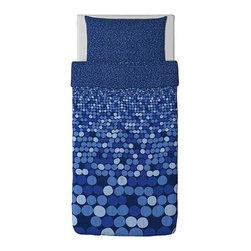SMÖRBOLL Duvet cover and pillowcase(s) - Duvet cover and pillowcase(s), blue
