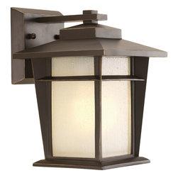 "Progress Lighting - Progress Lighting P6040-20Wb One-Lightwall Lantern W/Bulb (7"") Etched Seeded Gla - One-light small wall lantern with bulb"