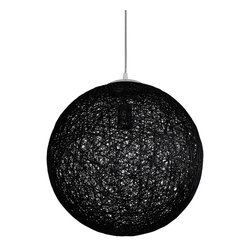 Celestial Orbit Pendant in Black - Hang the Celestial Orbit Pendant above a reading nook, dining table, coffee table, or in the bedroom for instant elegance and fun. Crafted from heat-resistant cotton thread, it creates magical lighting and style that's always sharp and dynamic.