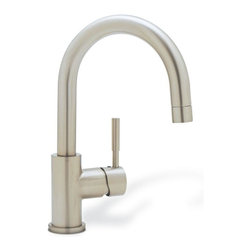 Blanco - Blanco Kitchen Meridian Single-Handle Bar Faucet in Satin Nickel silver 440954 - Experience the exceptional performance and stunning radiance of our double bowl 18 gauge stainless steel design. Created with an easy-to-clean satin polished finish blanco performa provides luxury that fits any kitchen. Performa bowls come with a broad selection of custom accessories to create a totally integrated work and preparation center. Color: Silver.
