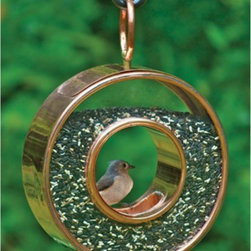 Good Directions - Good Directions Fly-Thru Bird Feeder - 111P - Shop for Feeders from Hayneedle.com! The charming design of the Good Directions Fly-Thru Bird Feeder is a perfect fit for every garden yard and home. This round feeder features a transparent ring for bird food one perch one feeding hole and steel construction in your choice of finish. About Good DirectionsGood Directions got its start by creating weathervanes and cupolas but it has expanded its line to include a wide range of decorative yet functional products for the home and garden including popular Fire Domes rain chains and garden weathervanes. The company continues to attract innovative artists and designers eager to lend their vision to the creation of exceptional products to enhance the home both indoors and out. No matter which way the wind blows you can count on Good Directions to show you the way to a beautiful home.