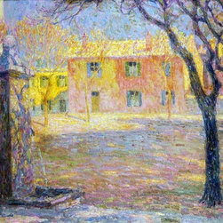 """Art MegaMart - Henri Le Sidaner A Small Villa - 20"""" x 25"""" Premium Canvas Print - 20"""" x 25"""" Henri Le Sidaner A Small Villa premium canvas print reproduced to meet museum quality standards. Our museum quality canvas prints are produced using high-precision print technology for a more accurate reproduction printed on high quality canvas with fade-resistant, archival inks. Our progressive business model allows us to offer works of art to you at the best wholesale pricing, significantly less than art gallery prices, affordable to all. We present a comprehensive collection of exceptional canvas art reproductions by Henri Le Sidaner."""