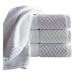 Luxor Linens - Vespucci Luxury Towel Set, 12-Piece, White - Extremely soft to the touch and alluring to the sight, this collection is a treat for your senses.