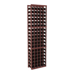 Wine Racks America - 5 Column Standard Wine Cellar Kit in Redwood, Cherry + Satin Finish - Growing wine bottle collections fit nicely in this 5 column design. Rock solid fabrication in pine or redwood materials makes wine storage a stress free hobby. Whether beginning or expanding your wine cellar, these racks are sure to please. We guarantee it.