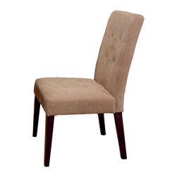 Great Deal Furniture - Highland Linen Dining Chair (Set of 2) - Classic contemporary design is at its apex with these stunning upholstered linen dining chairs.  This set of two chairs will look so elegant around your table, with their sturdy hardwood frames, cushioned seats in rich cream fabric and sleek shape.