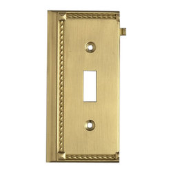 """Elk Lighting - EL-2507BR Clickplates Brass End Switch Plate Lighting Accessory - Decorative outlet covers customizable to your receptacle configuration. """"we've got you covered"""" with the most popular models and finishes. Quality cast metal construction will add a finishing touch to your decor. Clickplates will look great in every room in your home."""