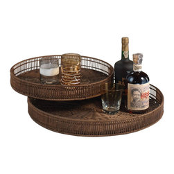 Zodax - Zodax Bamboo Round Trays (Set of 2) - Zodax - Serving / Decorative Trays - VT1138 - Impress your guests with Zodax Bamboo Round Trays. Round sophisticated and stylish these trays are designed to make a statement.