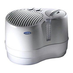 Lasko Products - Recirculating Humidifier - The 9.0-gallon Recirculating Humidifier offers contemporary styling and efficient humidification up to 3,200 square feet, making it ideal for multiple rooms and large living areas. 9.0-Gallon Output per Day (4.5-Gallon Water Capacity).  Easy-to-Fill, Removable Water Reservoir with Dual Handles.  Adjustable Humidistat for Personalized Comfort.  Patented, Cascading Waterfall Shows it's Working.  Castors for Mobility on any Surface.  Three Comfort Control Speeds.  ETL/cETL Listed.