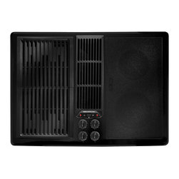 "Jenn-Air 30"" Electric Downdraft Cooktop, Black On Black 