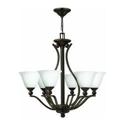 Hinkley Lighting - Hinkley Lighting 4656-OPAL Bolla 6 Light 1 Tier Chandelier - Six Light Single Tier Chandelier with Etched Opal Shade from the Bolla CollectionFeatures: