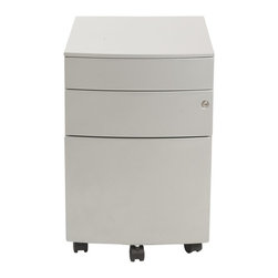 Euro Style - Euro Style Floyd Ppf Filing Cabinet X-LIS58972 - Two smaller upper drawers for rocks, scissors and paper. You could use the rocks for paperweights when the game is over. The bottom drawer is a 22 inch file cabinet full extension slides and a supporting front coaster.