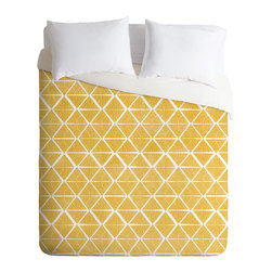 DENY Designs - Loni Harris Cooking Time Duvet Cover - Turn your basic, boring down comforter into the super stylish focal point of your bedroom. Our Luxe Duvet is made from a heavy-weight luxurious woven polyester with a 50% cotton/50% polyester cream bottom. It also includes a hidden zipper with interior corner ties to secure your comforter. it's comfy, fade-resistant, and custom printed for each and every customer.
