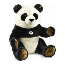 Steiff - Steiff Plush Pummy Panda - Steiff Pummy Panda Bear is made of cuddly soft black and white woven plush. Hand washable. Ages 3 and up. Handcrafted by Steiff of Germany.