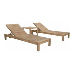 Anderson Outdoor Furniture - South Bay Glenmore Set - Take your next staycation to a new level with this teak lounger set. The convenient side table is perfect for keeping drinks, a novel or your gadgets — depending on what relaxes you most — close at hand. Add cushions for the ultimate in comfort and an extra pop of color.