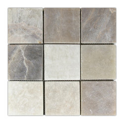 "CNK Tile - Mixed Quartz 4"" x 4"" Stone Mosaic Tile - Usage:"