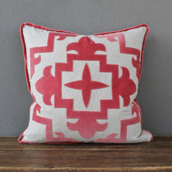 heavy basket applique pillow - view this item on our website for more information + purchasing availability: http://redinfred.com/shop/category/free-shipping/heavy-basket-applique-pillow/