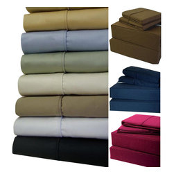 Bed Linens - 21 inch Super Deep Pockets 600TC Sheet Set Queen Chocolate - 21 inch Super Deep Pockets Sheet SetExtra Deep Pockets (21-inch) Queen sheet set * 100-Percent Egyptian cotton * 600 Thread count single ply * Fitted made with elastic all aroundQueen Set Includes:one Queen fitted sheet: 60 inches wide x 80 inches longone Queen flat sheet: 96 inches wide x 106 inches longtwo Standard/Queen pillow cases 20 inch x 32 inches