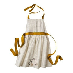 Threshold Kitchen Apron, Gold - While you're still prepping, you can coordinate with your party in this gold and white apron — because the hostess needs to look good too!