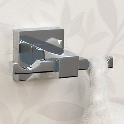 Albury Double Robe Hook - This stylish and contemporary double robe hook is a great addition to your guest or master bath. Great for storing multiple robes or towels.