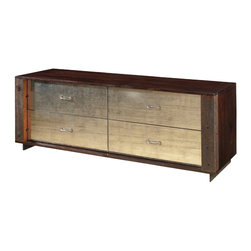 Four Hands - Logan Dresser - This handsome dresser is hand-crafted from reclaimed and sustainably harvested woods, offering good looks that are also good for the Earth. Noted designer Thomas Bina forsakes surface ornament, preferring to let the contrasts in texture and patina add visual interest to his pieces, giving them character that stands the test of time.