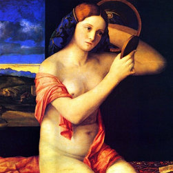 """Giovanni Bellini Young Woman at her Toilet - 16"""" x 20"""" Premium Archival Print - 16"""" x 20"""" Giovanni Bellini Young Woman at her Toilet premium archival print reproduced to meet museum quality standards. Our museum quality archival prints are produced using high-precision print technology for a more accurate reproduction printed on high quality, heavyweight matte presentation paper with fade-resistant, archival inks. Our progressive business model allows us to offer works of art to you at the best wholesale pricing, significantly less than art gallery prices, affordable to all. This line of artwork is produced with extra white border space (if you choose to have it framed, for your framer to work with to frame properly or utilize a larger mat and/or frame).  We present a comprehensive collection of exceptional art reproductions byGiovanni Bellini."""