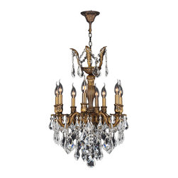 "Worldwide Lighting - Versailles 8 Light Antique Bronze Finish Crystal Chandelier 19"" - This stunning 8-light Chandelier only uses the best quality material and workmanship ensuring a beautiful heirloom quality piece. Featuring a cast aluminum base in Antique Bronze finish and all over clear crystal embellishments made of finely cut premium grade 30% full lead crystal, this chandelier will give any room sparkle and glamour. Worldwide Lighting Corporation is a privately owned manufacturer of high quality crystal chandeliers, pendants, surface mounts, sconces and custom decorative lighting products for the residential, hospitality and commercial building markets. Our high quality crystals meet all standards of perfection, possessing lead oxide of 30% that is above industry standards and can be seen in prestigious homes, hotels, restaurants, casinos, and churches across the country. Our mission is to enhance your lighting needs with exceptional quality fixtures at a reasonable price."
