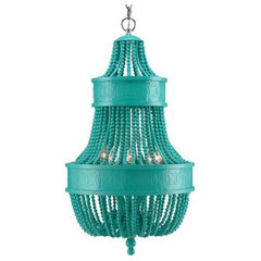 contemporary chandeliers Catalonia Chandelier, Turquoise