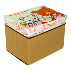 Blancho Bedding - Rilakkuma Cafe Rectangle Foldable Storage Ottoman / Storage Boxes - The Foldable Storage Seat will make an ideal addition to your room, which combines accessible everyday storage with a useful occasional seat. Not only does it provide you a comfortable place to rest, but it also offers extra space to store your gaming gear, gadgets, books, magazines, and other household necessities. With lots of storage space, the ottoman helps you keep your room free from clutter. Made with non-woven fabric and durable cardboard. It spices up your home's decor, and create a multifunctional storage unit for all around your home.