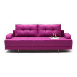 NYFU - Empire Sleeper Sofa - Magenta - Bring an empire to your room! This sleeper sofa that opens in to a full bed is surprisingly spacious and insanely comfortable.