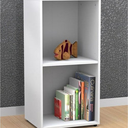 Nexera - BLVD Storage Bookcase Multicolor - 220203 - Shop for Childrens Bookcases from Hayneedle.com! From Dr. Seuss to Harry Potter the BLVD Storage Bookcase is just what you need to keep your child's favorite books within arm's reach. With its clean lines linear design and modern aesthetics this bookcase is not just functional but fetching enough to complement most decors. Sturdily constructed of quality engineered wood in textured white lacquer finish it features an adjustable shelf to keep books of any size organized. This bookcase also features adjustable levelers that allow for precise positioning on any surface. Pair it with other BLVD modular pieces for additional storage and a customized contemporary look in your child's nursery living room home office or even in your bedroom.About NexeraNexera whose name is a combination of the words next era is a Canadian manufacturer of affordable ready-to-assemble furniture known for its innovative cosmopolitan style. At their factory in Laval Canada Nexera employees utilize state-of-the-art equipment to manufacture their modern furniture collections including bedroom collections entertainment furniture office furniture and utility furniture.From start to finish Nexera upholds high standards of care for the environment when making their furniture. All raw material (particle board) originates from FSC (Forest Stewardship Council) certified forests only and energy used comes from renewable sources only such as hydro-electricity and windmill power. Nexera meets the CARB (California Air Resources Board) requirements for clean air and it recycles over 92% of its factory waste. Nexera products are packaged with 100% recycled fibers. Because of the materials they are constructed with Nexera products are also able to be recycled at the end of their life cycle which reduces landfill waste.