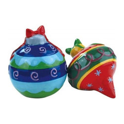 Westland - 3.25 Inch Multi-Colorful Festive Ornaments Salt and Pepper Shakers - This gorgeous 3.25 Inch Multi-Colorful Festive Ornaments Salt and Pepper Shakers has the finest details and highest quality you will find anywhere! 3.25 Inch Multi-Colorful Festive Ornaments Salt and Pepper Shakers is truly remarkable.