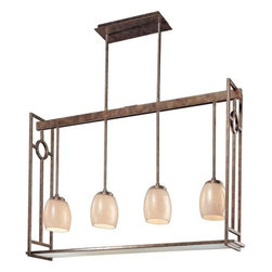 Minka Lavery - Minka Lavery ML 1854 4 Light 1 Tier Linear Chandelier from the Acquisitions Coll - Four Light Single Tier Linear Chandelier from the Acquisitions CollectionFeatures: