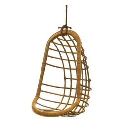 Hanging Rattan Chair - Have a seat in this sweet hanging chair. It's a perfect place to admire the garden!